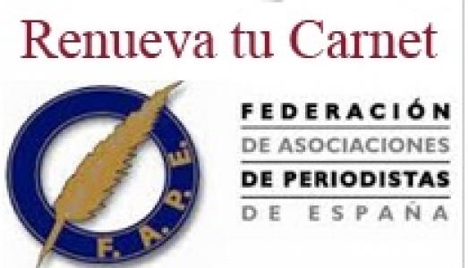 RENOVACIÓ CARNETS FAPE/UNIÓ DE PERIODISTES